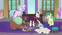 Neighsay dumps the trash can's contents S8E26