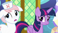 """Nurse Redheart """"on school picture day, too"""" S7E3"""