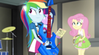 Rainbow's pony ears starting to appear EG2