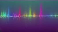 Rainbow-colored equalizer waves CYOE12c