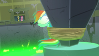 Rainbow Dash continues to sink into the slime S7E18