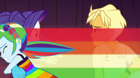 Rainbow Dash zooms in and grabs Rarity EGSB