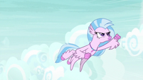 Silverstream flying after Rainbow Dash S9E3