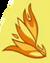 Profile of a stylized phoenix