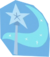 Light blue magic wand and crescent moon