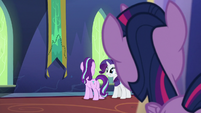 Twilight observing Starlight and Rarity S6E21