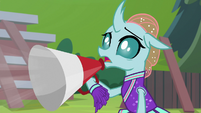 Ocellus cheering with a megaphone S9E15