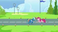 Pinkie Pie congratulates Rainbow Dash again S7E23
