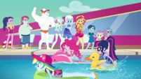 RD, Pinkie, and Twi having a pool race EGDS41