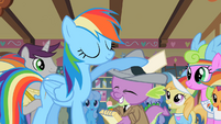 Rainbow Dash and her ghost writer S2E08