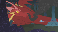 Rainbow speeds toward the dragon S1E07