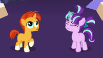 Young Starlight and Sunburst in the throne room S7E24