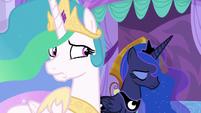 Celestia and Luna feeling uncertain S9E13