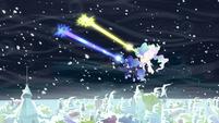 Celestia and Luna zapping storm clouds S6E2