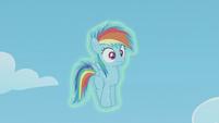 Filly Rainbow Dash still frozen S5E25