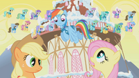 "Fluttershy to Rainbow Dash ""Stop!"" S1E11"