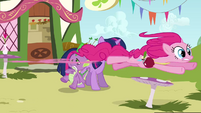 Pinkie zooming past again S3E3
