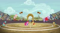 Ponyville beats Appleloosa in buckball S6E18