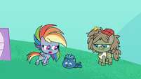 Rainbow asking Smallfry if he's okay PLS1E2b