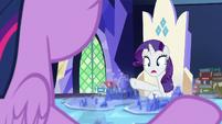 "Rarity ""darling, your diorama!"" S7E25"