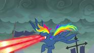 S07E23 Rainbow Dash z wyobraźni Pinkie strzela laserami z oczu