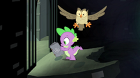 Spike reading a book S4E23