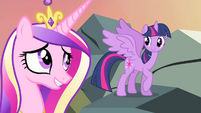 Twilight and Cadance relieved S4E11