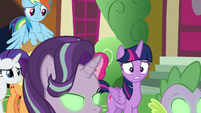 Twilight sees Starlight and Spike Sombrafied S9E2