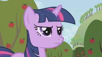 Twilight standing in Applejack's way S1E04