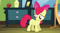 Apple Bloom with shiny tooth cutie mark S5E4