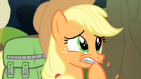 Applejack biting on her hoof S4E17