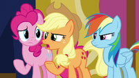 Applejack questions Sludge's gladness S8E24