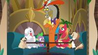 Discord, Spike, Big Mac, and dogs play poker S6E17