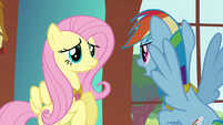 """Fluttershy and Rainbow """"trying to drive a wedge between us"""" S03E10"""