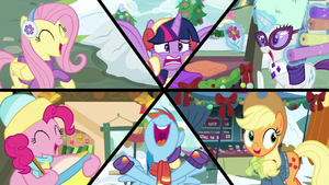 Mane Six on six-way split-screen MLPBGE.png