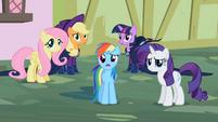 Rarity & Rainbow Dash ok weird S2E8