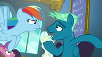 Sky Stinger introduces himself to Rainbow Dash S6E24