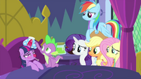 Spike taking care of sick Twilight Sparkle MLPS2