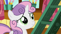 Sweetie Belle smiling at Rarity S7E6