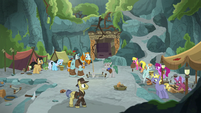 Wide view of Professor Fossil's dig site S8E21