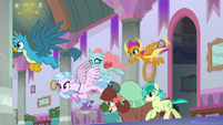 Young Six sneaking past Cozy Glow S8E26