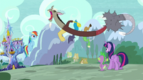 """Discord gets """"snake suit"""" out of him S5E22"""