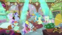 Friendship students cheer under spotlights MLPS3
