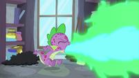 Spike belching fire inside the closet S8E11