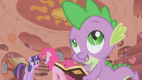 """Spike calls Pinkie """"pink with envy"""" S1E05"""
