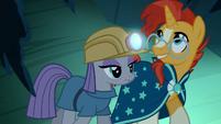 Sunburst and Maud Pie exploring the cave S7E24