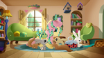 Fluttershy is going on a trip and Angel and other animals help her Rainbow Roadtrip