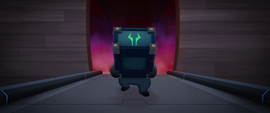 Grubber carrying a speaker box from the airship MLPTM