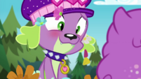 Spike blushing at Princess Thunder Guts CYOE14b
