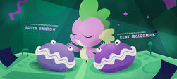 Spike drumming on Shelly and Sheldon MLPTM